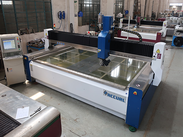 2000 * 1500mm 380 mpa λειαντικά σκληρυμένο και πολυστρωματικό γυαλί υψηλής πίεσης CNC μηχανή κοπής με ψεκασμό νερού