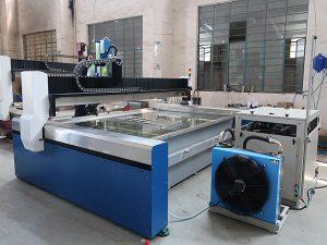 Μικρή μηχανή κοπής με ψεκασμό νερού CNC, πίδακα νερού υψηλής πίεσης: μάρμαρο, γρανίτη, γυαλί, κεραμικό, μέταλλο