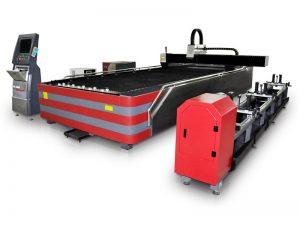 Ταϊβάν hiwin γραμμική οδηγός ινών λέιζερ σωλήνα κοπής μηχανή 1500 x 3000 mm εύρος εργασίας